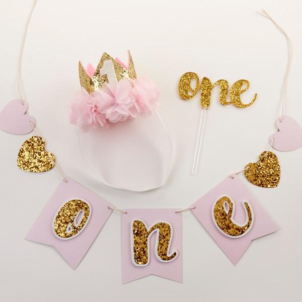 Gold Glitter 1St Birthday Decor Kit 10672