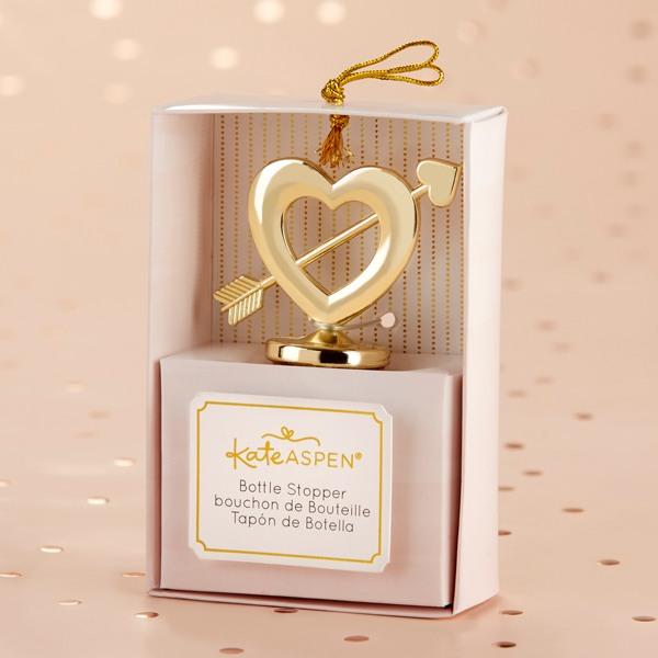 Gold Cupid's Arrow Bottle Stopper - One in Box