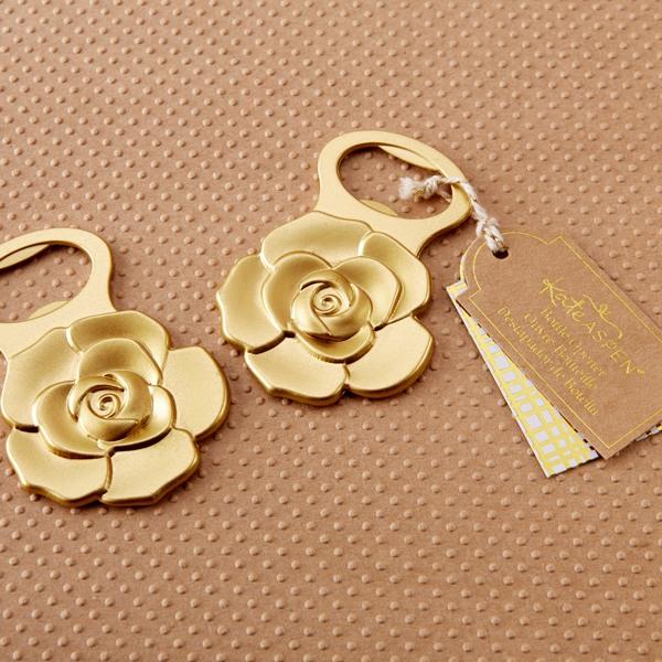 Metallic Gold Rose Bottle Opener 10678