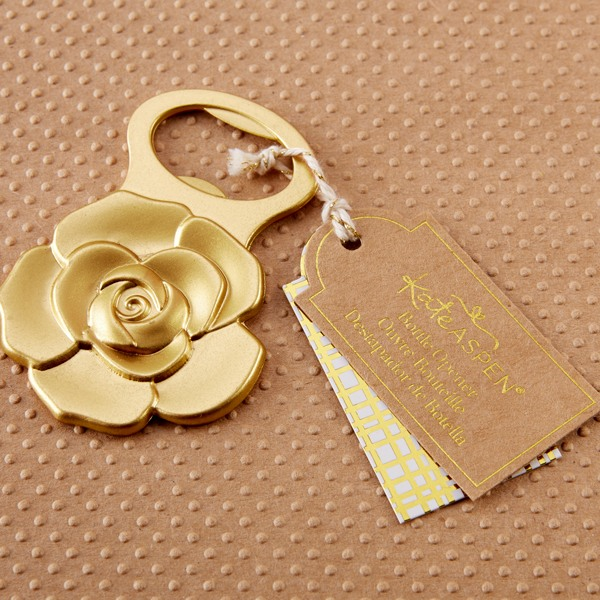 Metallic Gold Rose Bottle Opener One Opener