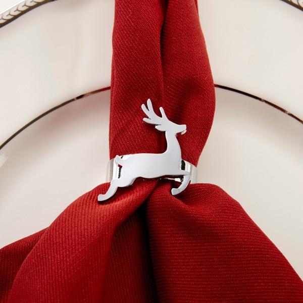 Silver Reindeer Napkin Ring 10679