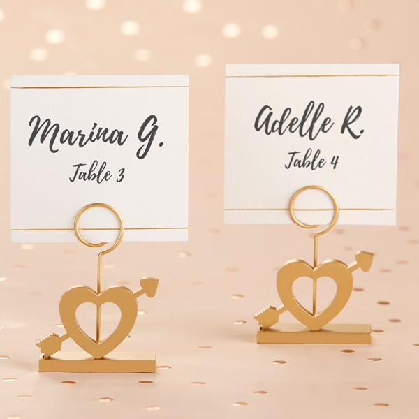 Gold Cupid'S Arrow Place Card Holder 10684