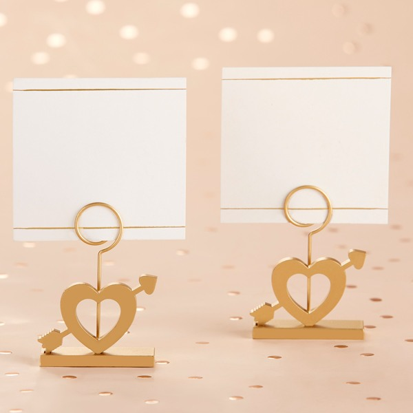 Gold Cupid's Arrow Place Card Holder - No Name