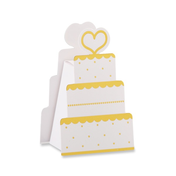 Gold Wedding Cake Favor Box- One Box