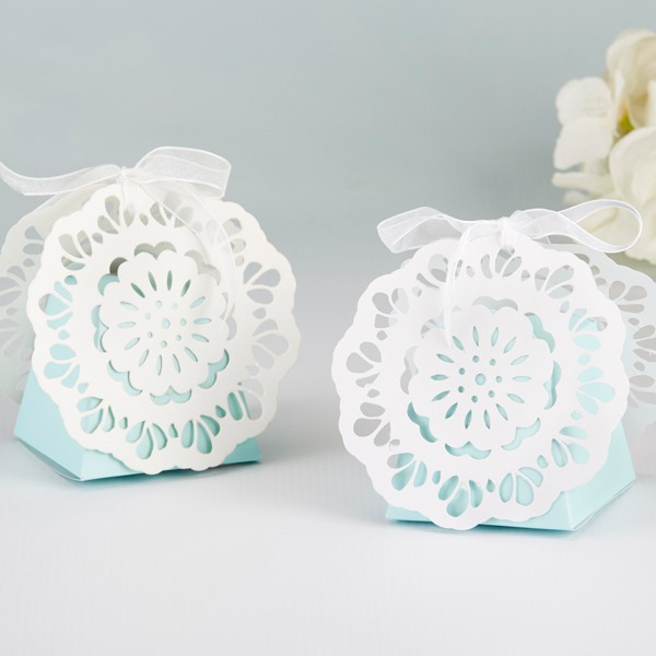 Something Blue Lace Favor Box 10700