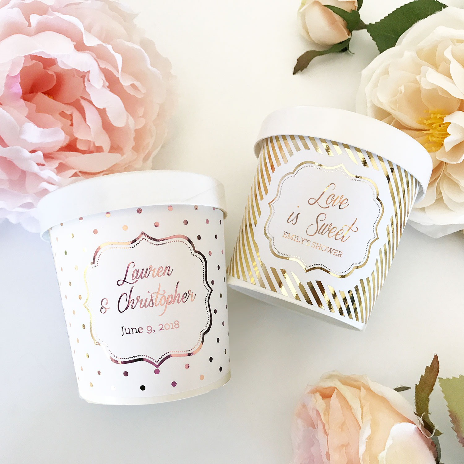Custom Metallic Foil Ice Cream Containers 10749