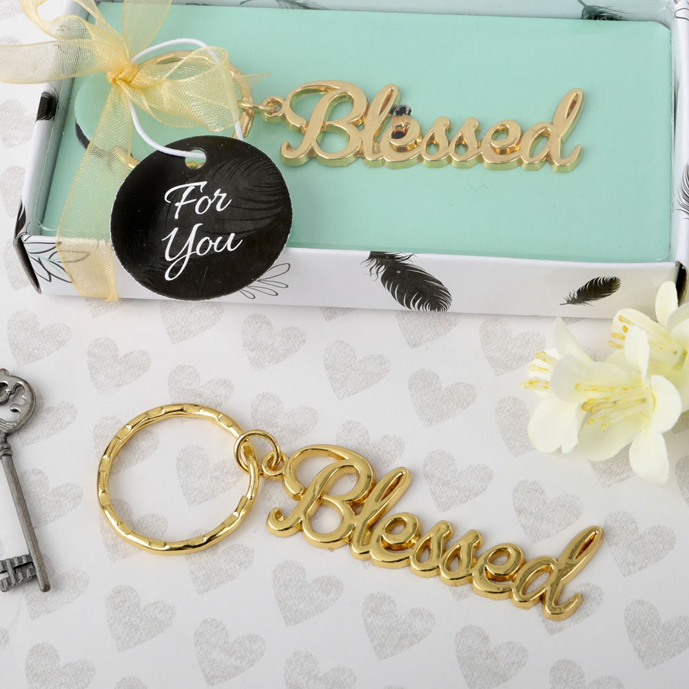 Blessed Metal Key Chain Favor 10786
