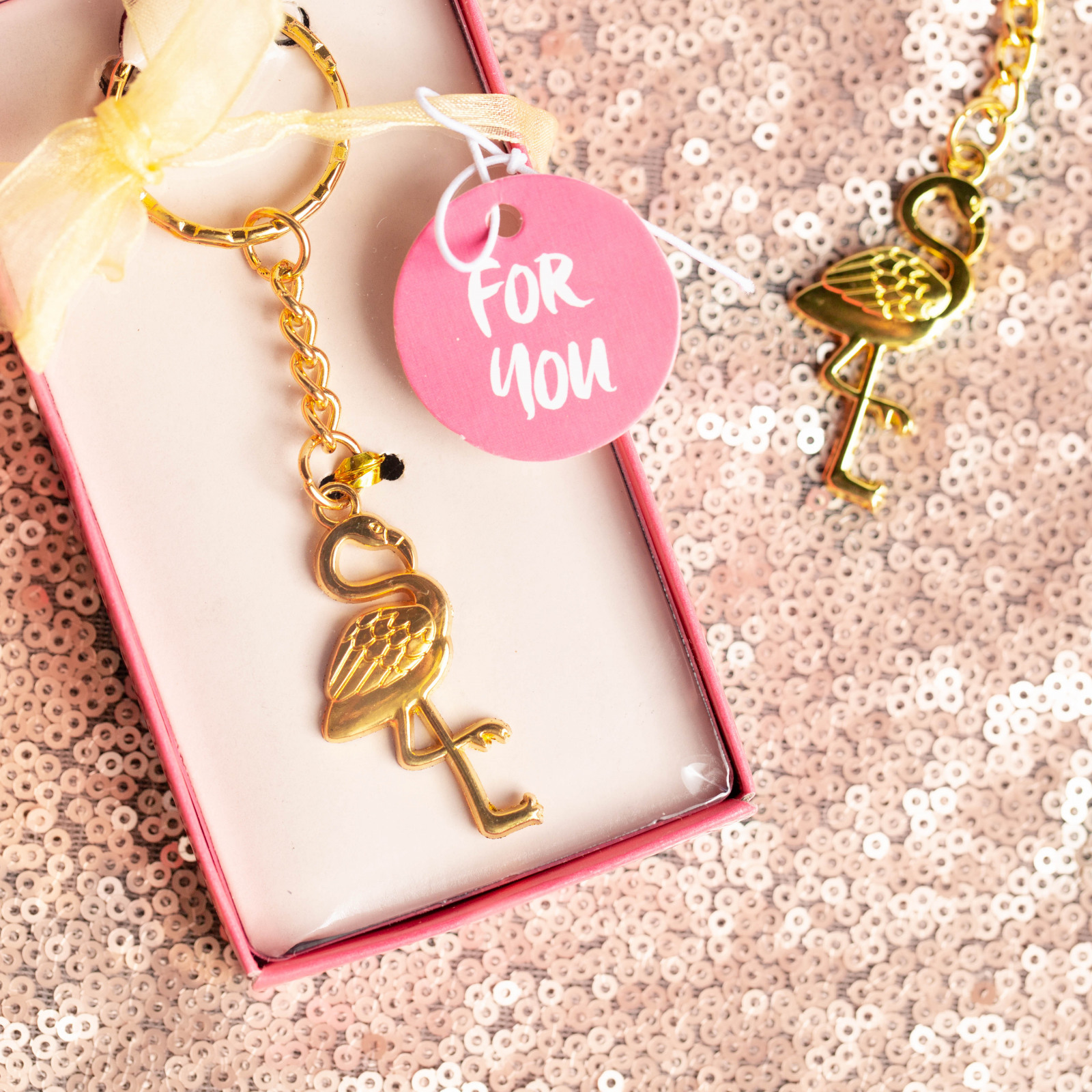 Flamingo Key Chain Favor