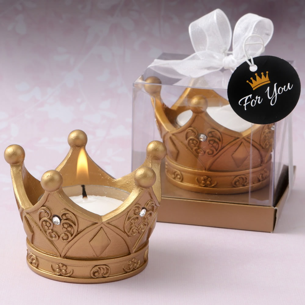 Gold Crown Candle Holders 10790