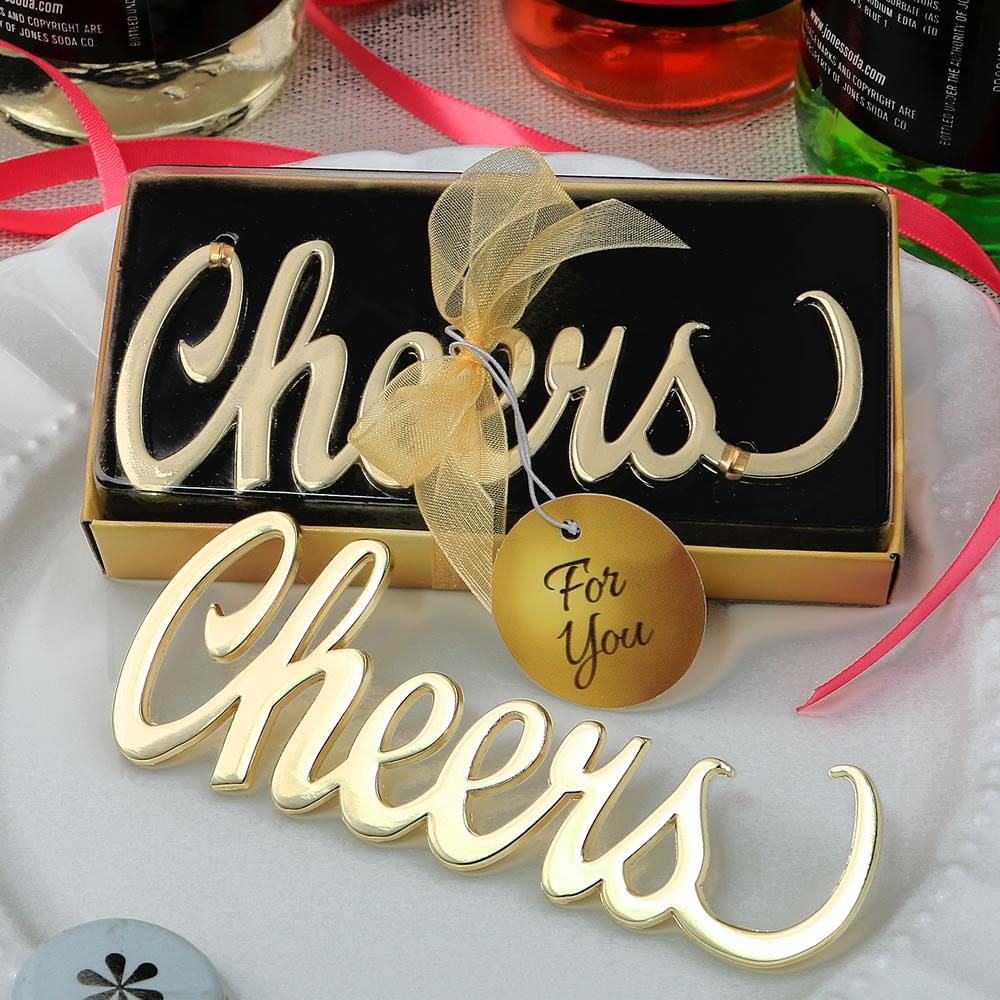 Cheers Script Bottle Opener 10793