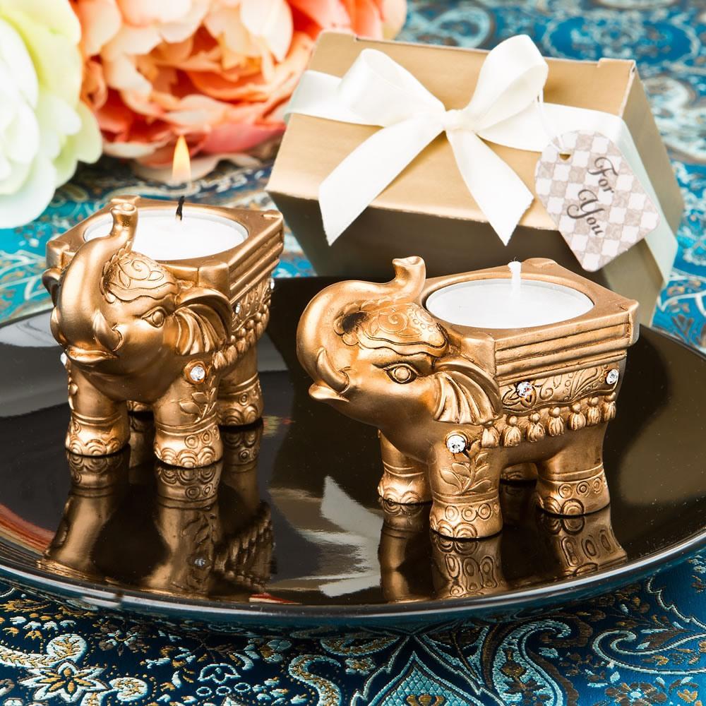 Gold Elephant Candle 10794