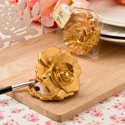 Rose Compact Mirror Favor