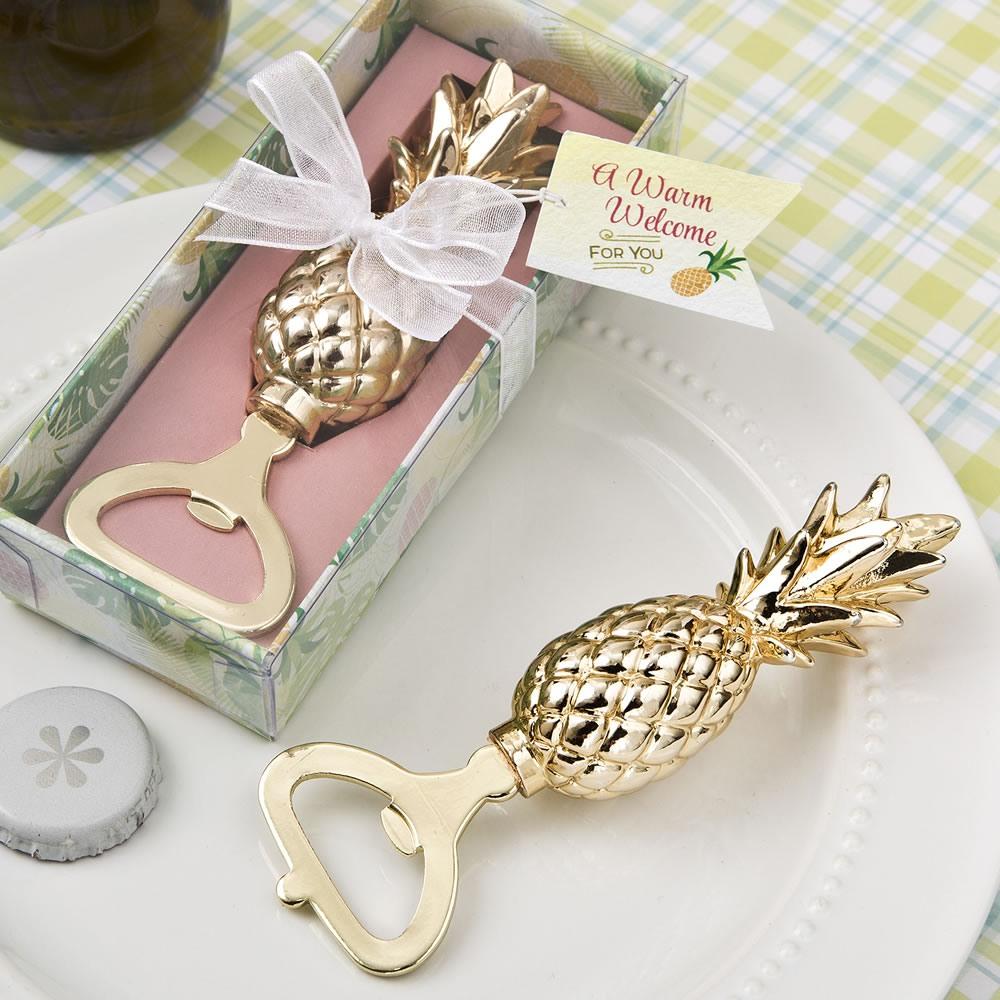 Gold Pineapple Bottle Opener 10797