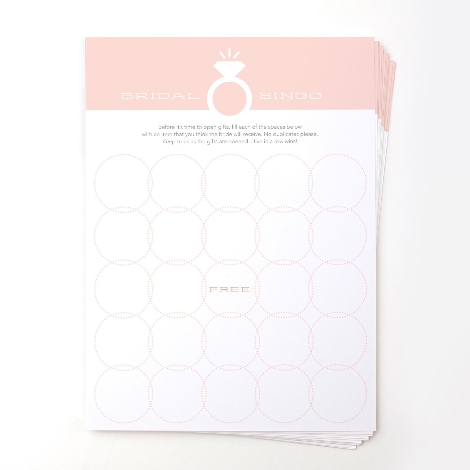 Bridal Bingo Games