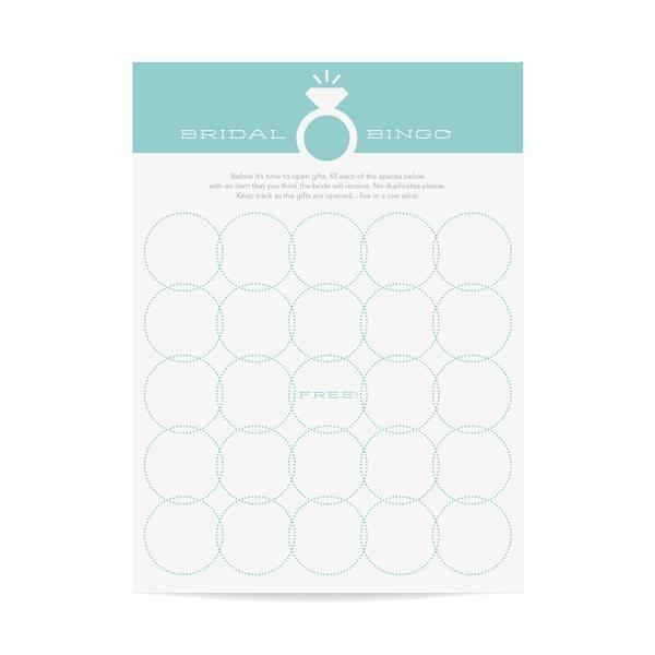 Bridal Bingo Games Blue