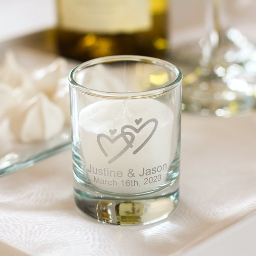 Personalized Wedding Votive Candle Holders 1085