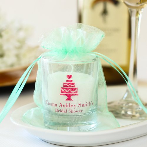 Personalized Bridal Shower Votive Candle Holder