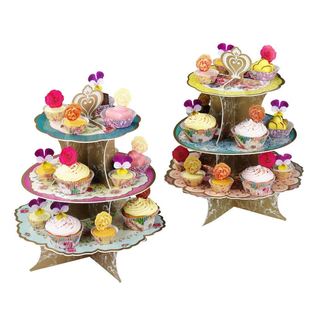 Tea Party Three Tier Cake Stand 10852