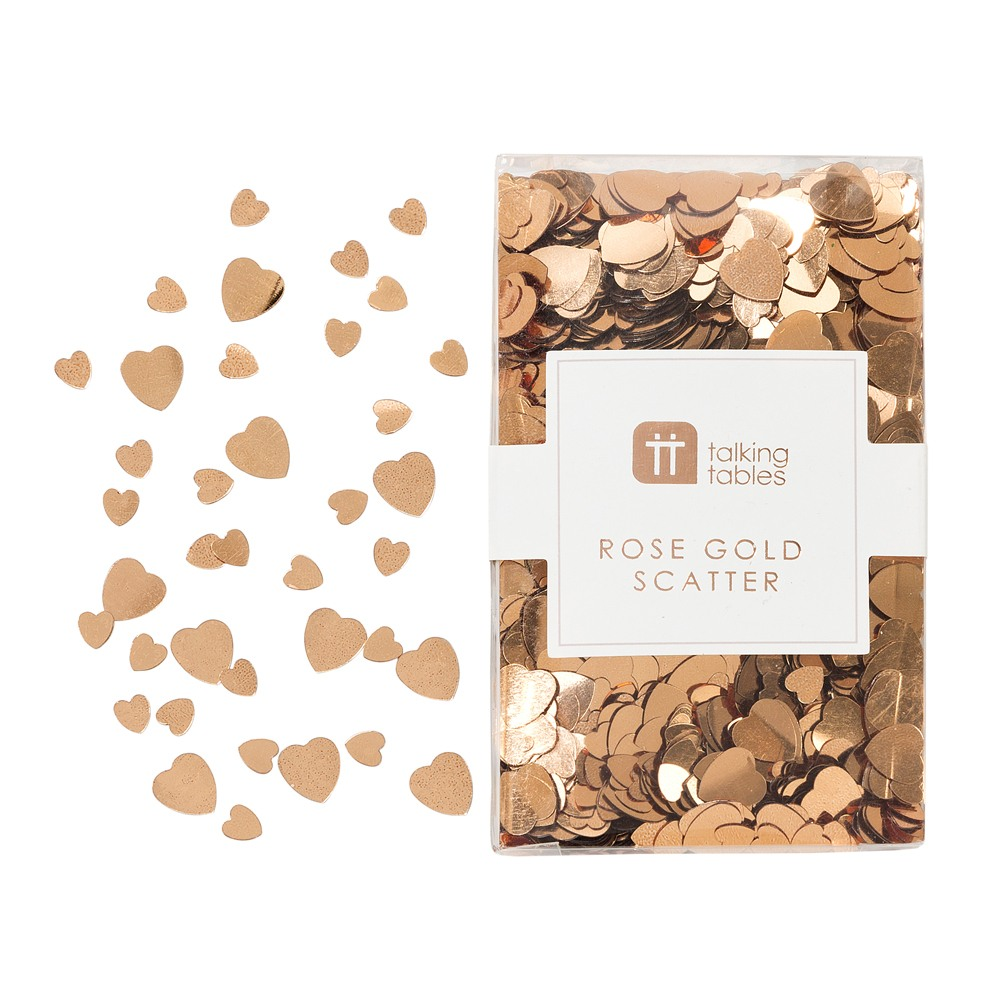 Rose Gold Heart Confetti Scatter 10857