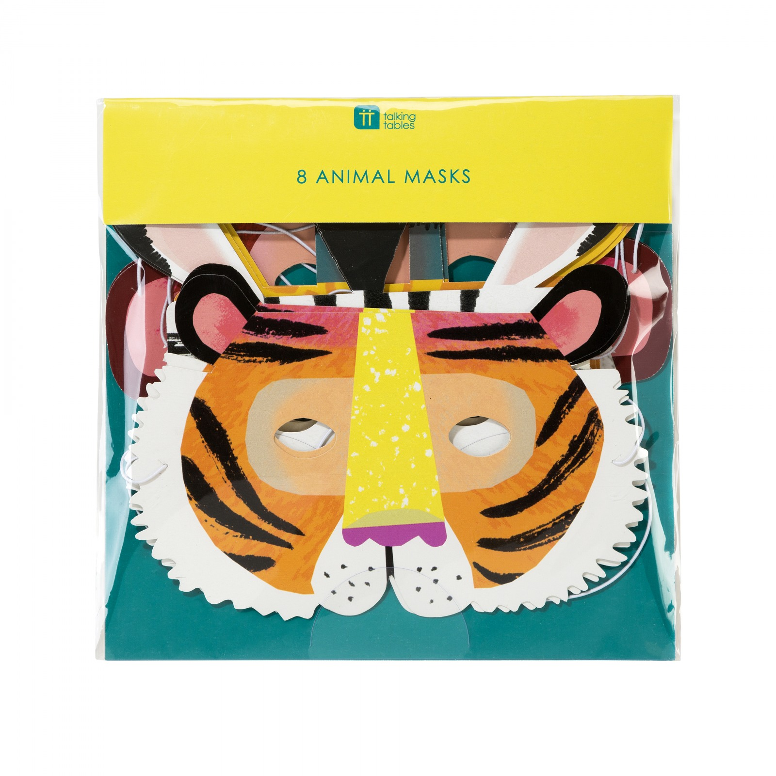 Party Animals Paper Masks 10865