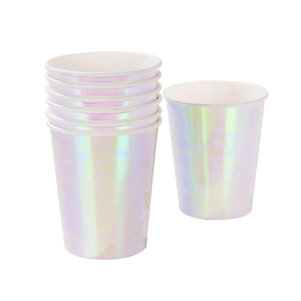 Pastel Iridescent Cups