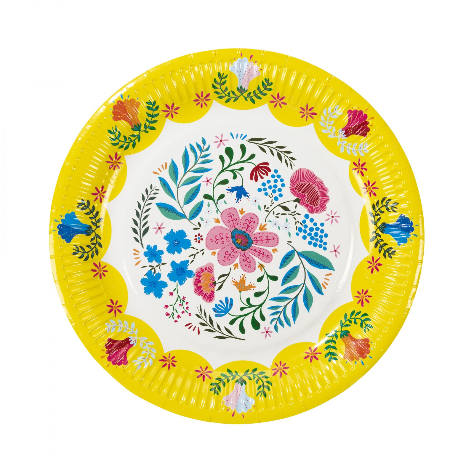 Boho Floral Paper Plate