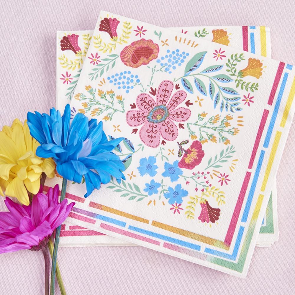Bright Boho Floral Napkins 10889