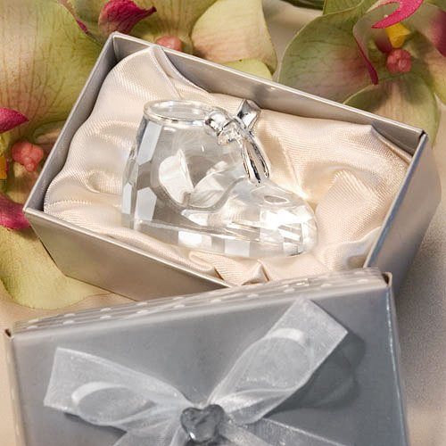 Crystal Baby Bootie Gift Box