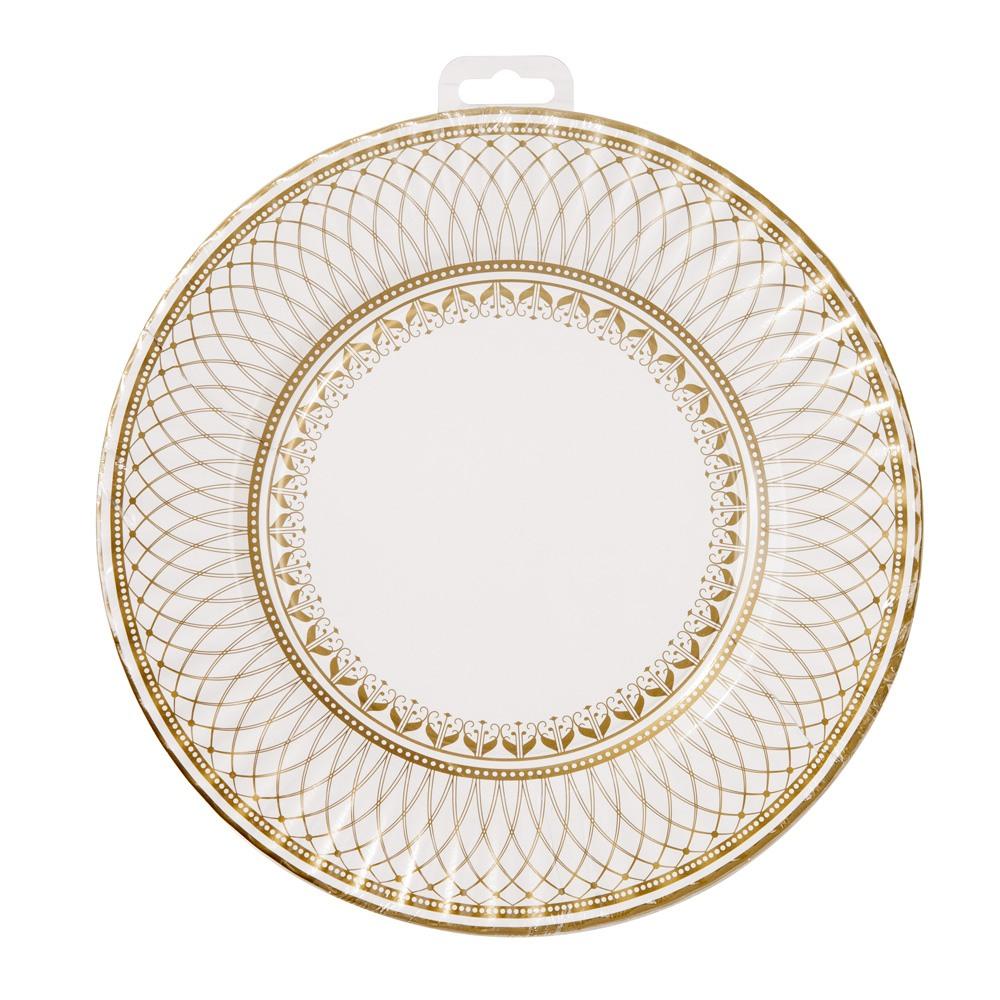 Gold Porcelain Large Plates 10905