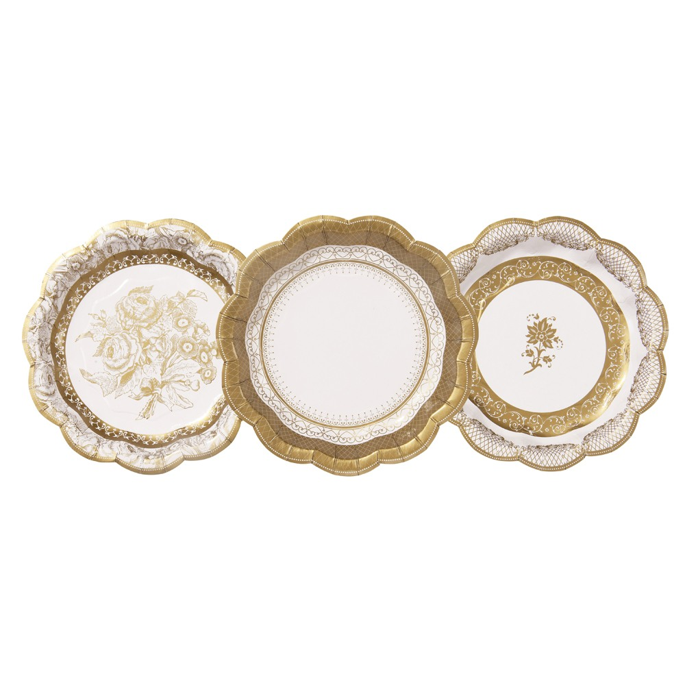 Gold Porcelain Small Plates