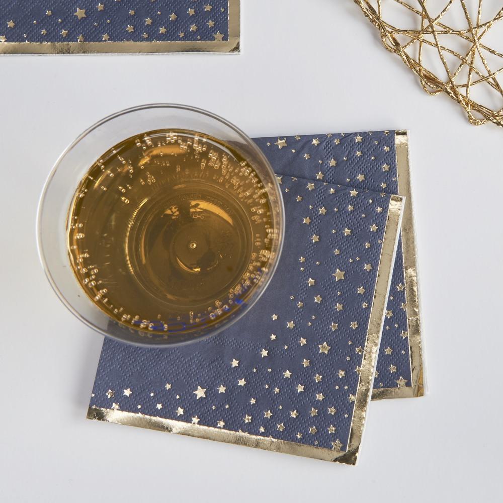 Star Pattern Cocktail Napkins 10930