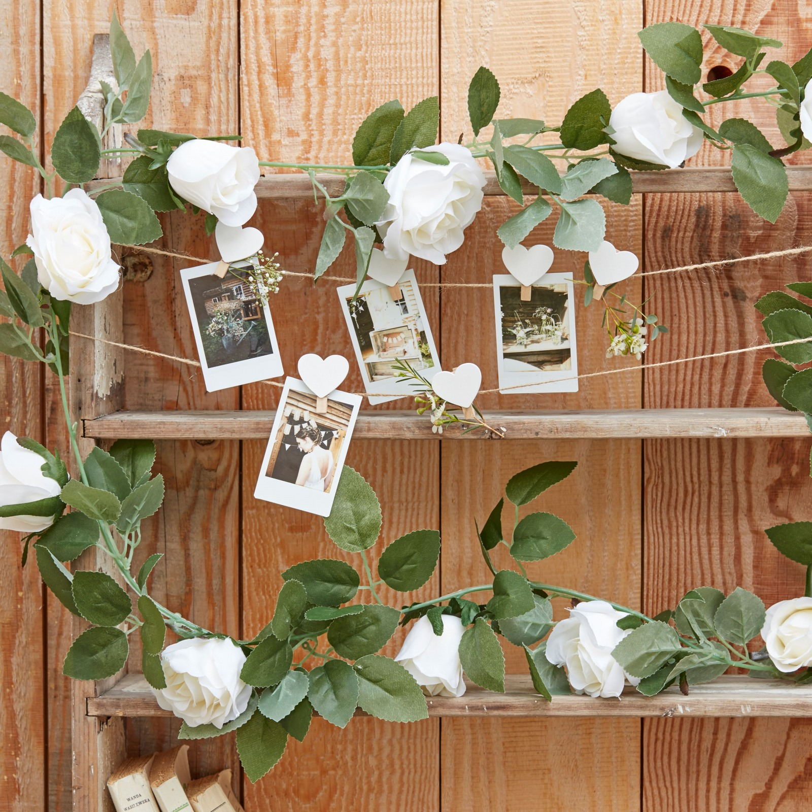 White Floral Garland 10931