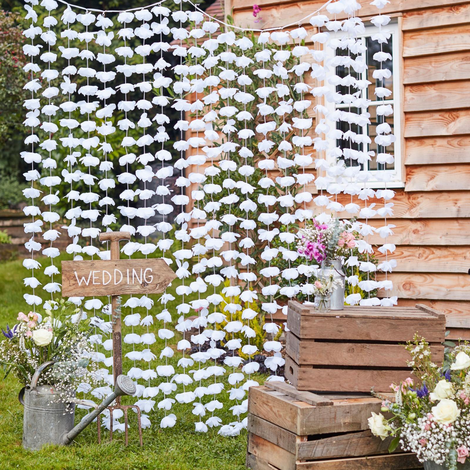 Hanging Flowers Backdrop 10933