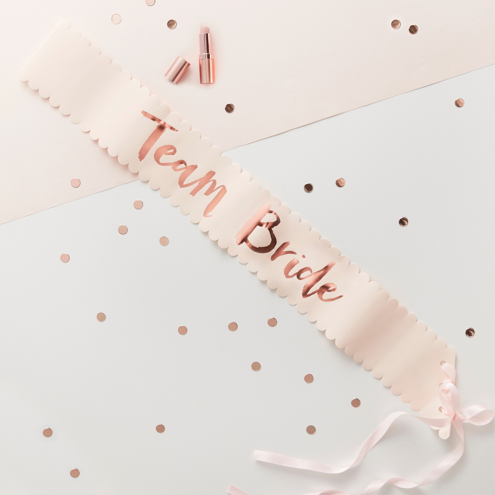 Rose Gold Foil Team Bride Sashes