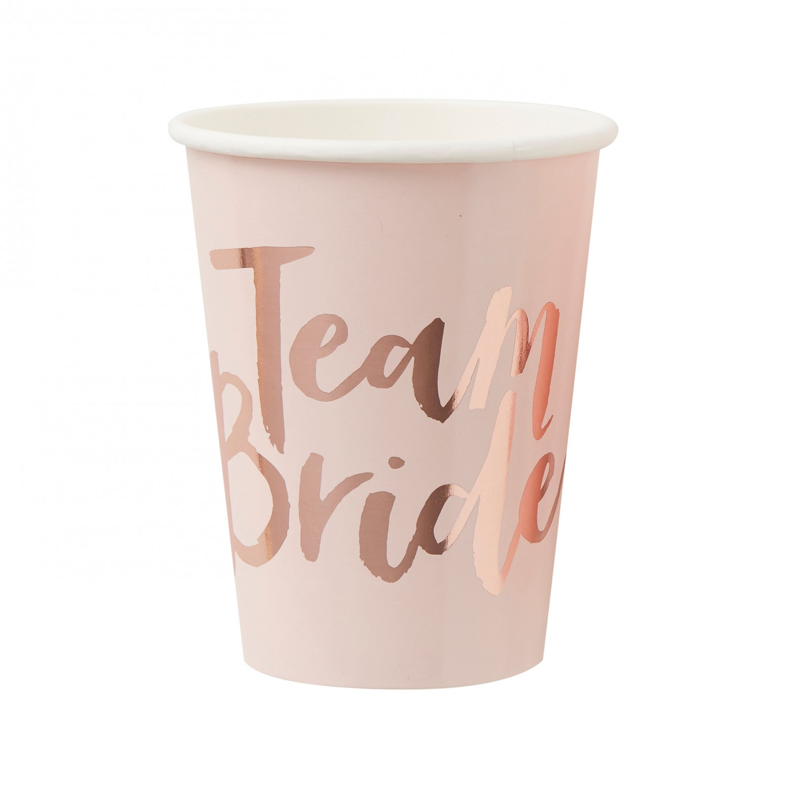 Rose Gold Foiled Team Bride Paper Cup