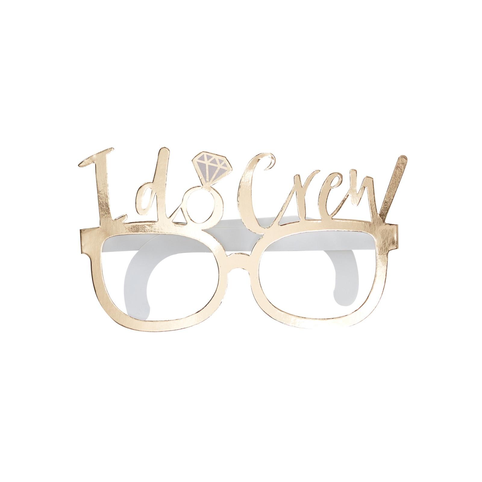 Gold I Do Crew Fun Glasses 10945