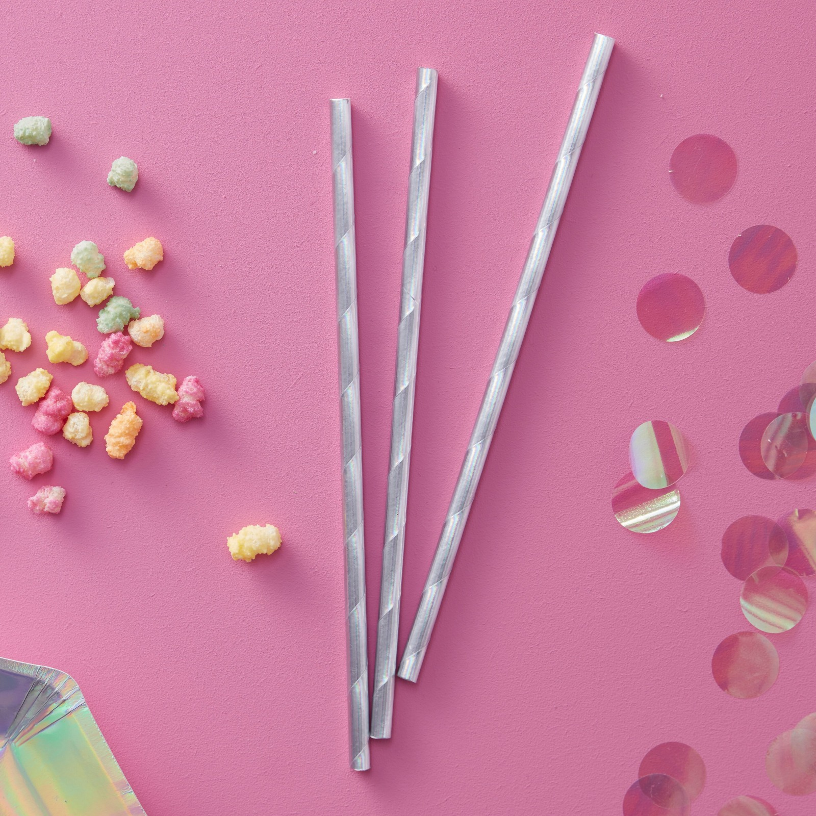 Iridescent Party Straws 10953