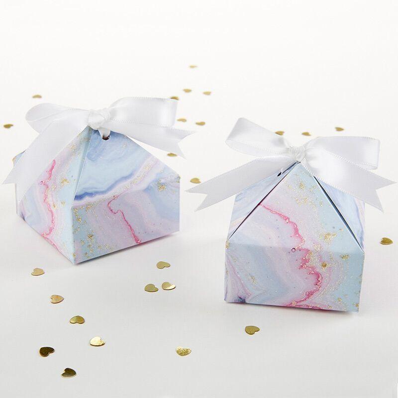 Marble Pyramid Favor Box