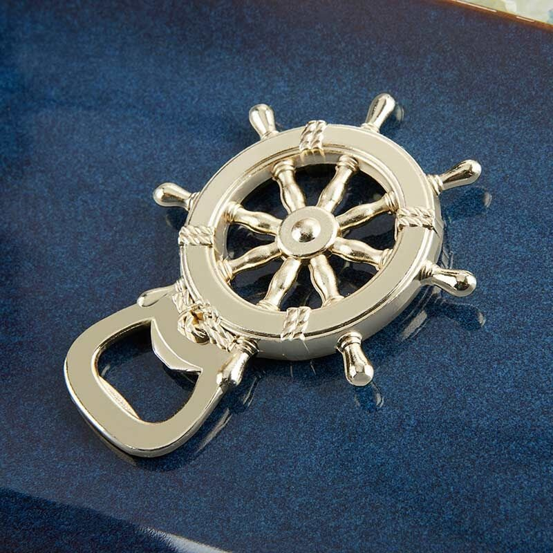 Nautical Ship Wheel Bottle Opener 11042