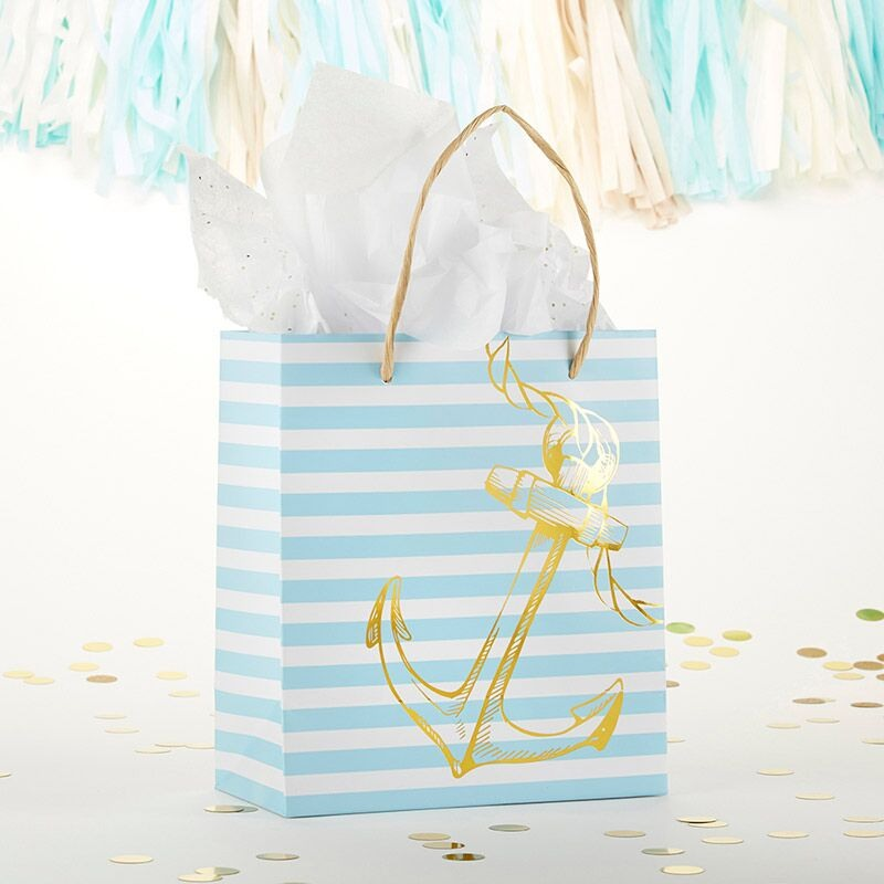 Striped Anchor Gift Bag 11043