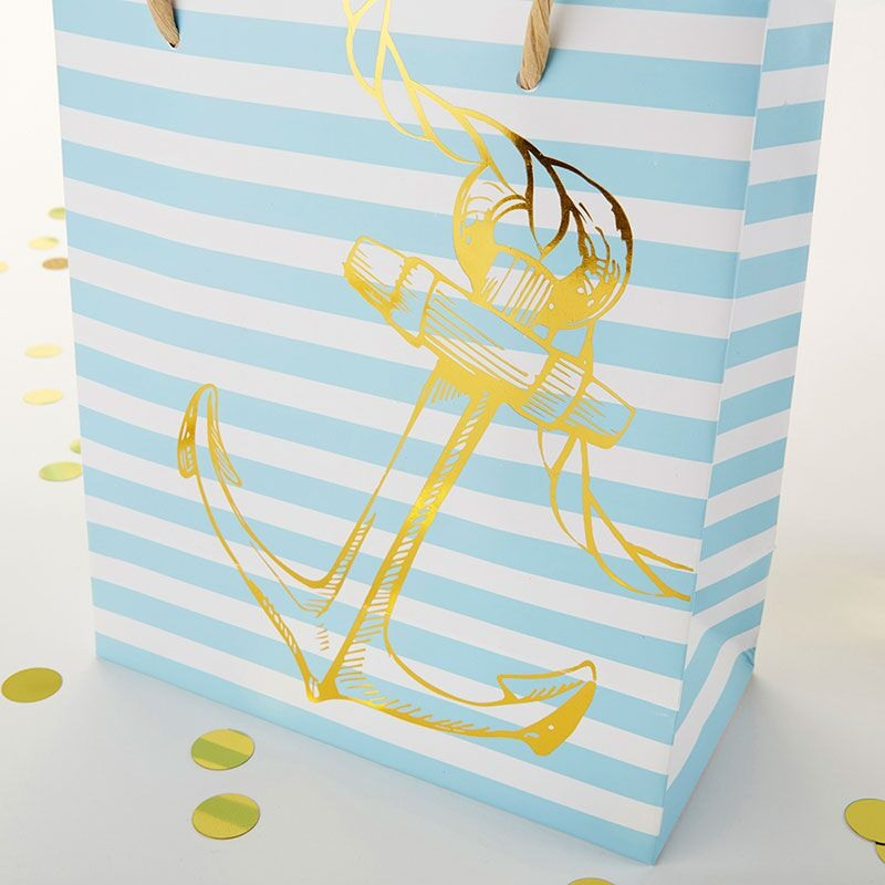 Striped Anchor Welcome Bag