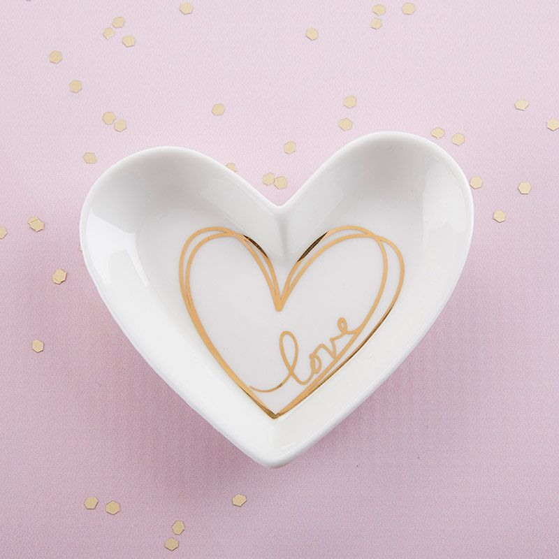 Heart Shaped Favor Dish 11048