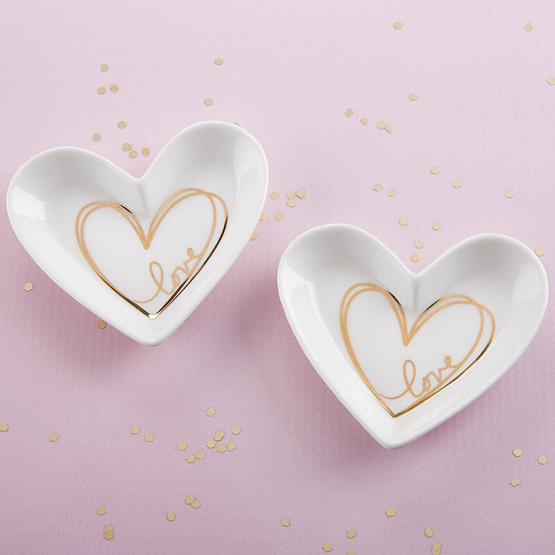 Heart Shaped Favor Dish