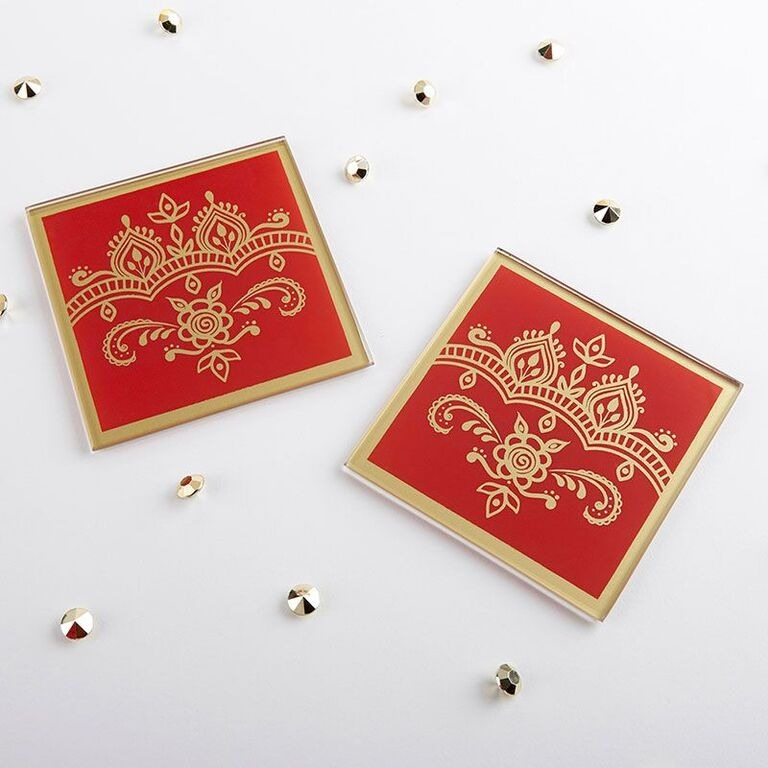 Indian Jewel Glass Coasters 11051