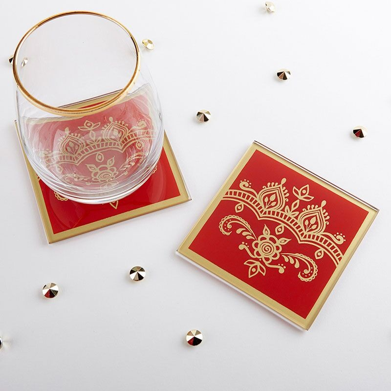 Indian Style Glass Coasters