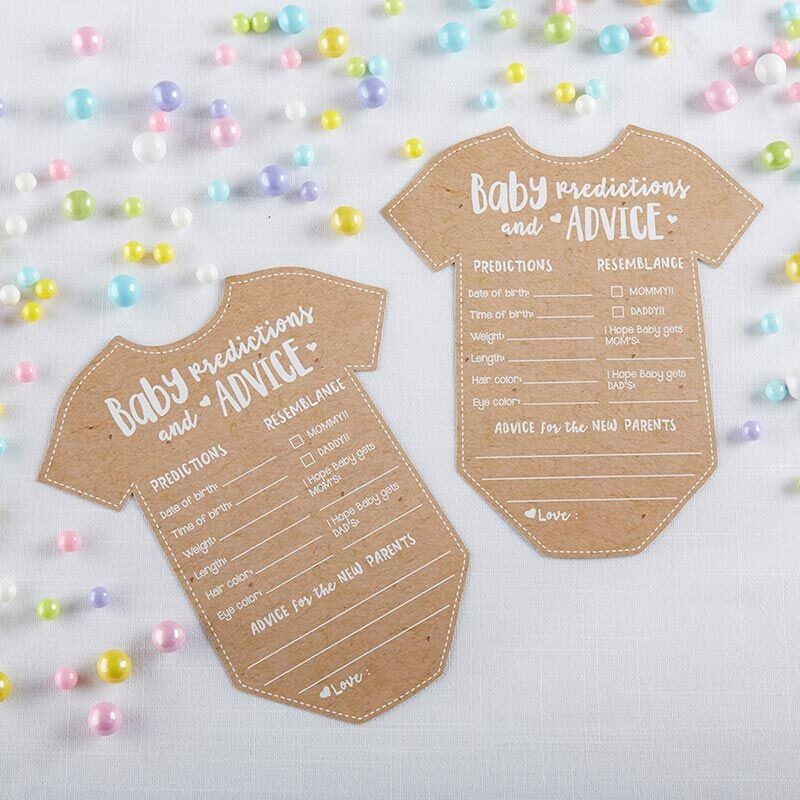 Onesie Shaped Baby Advice Cards 11052