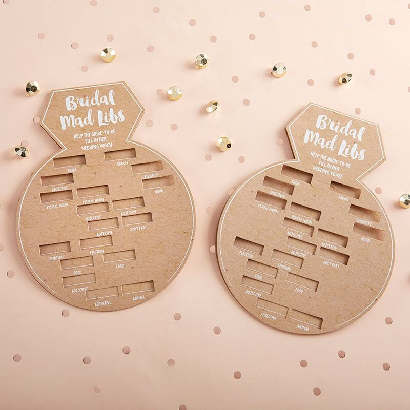 Ring Shape Bridal Shower Game Cards 11053