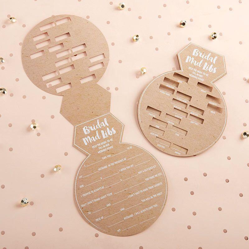Ring Shape Bridal Shower Game Cards