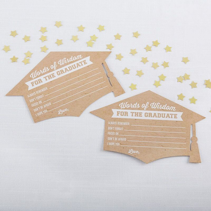 Graduation Cap Shaped Advice Cards 11054