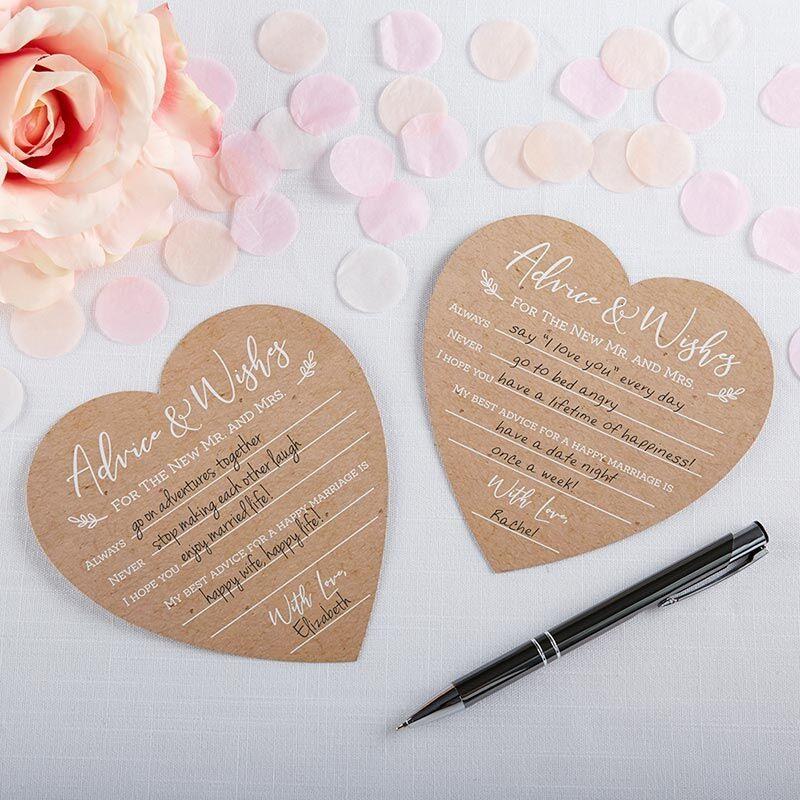 Wedding Advice Card - Heart Shaped